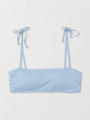 H&M Bandeaubikini-bh blå