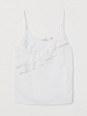 H&M Linne med volanger vit