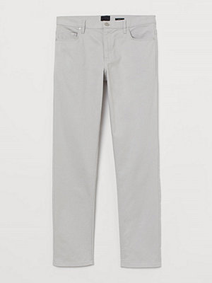 H&M Twillbyxa Slim Fit grå