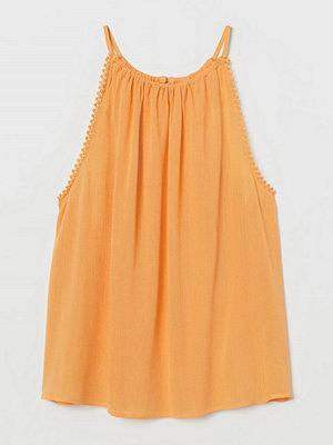 H&M Krinklat linne gul
