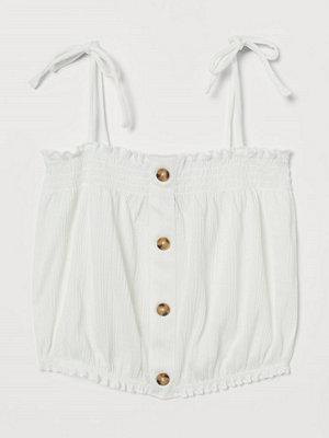 H&M Linne med smock vit
