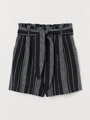 H&M Paper bag-shorts svart
