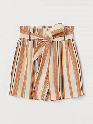 H&M Paper bag-shorts orange