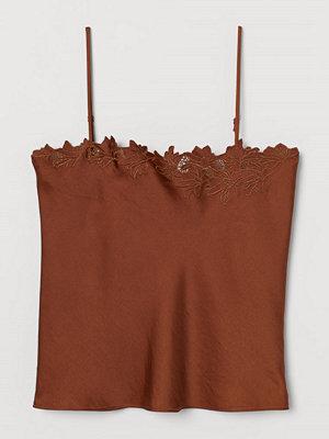 H&M Broderat linne beige