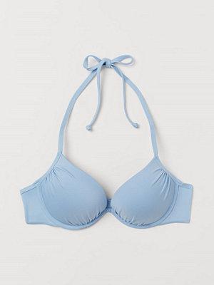 H&M Super push up bikini-bh blå