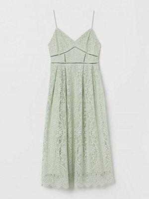 H&M Klänning i spets grön