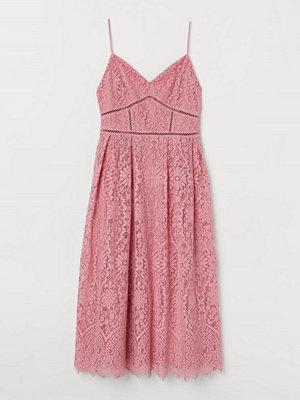 H&M Klänning i spets rosa