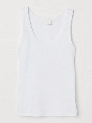 H&M Tanktop i bomull vit