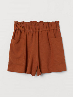 H&M Shorts i linmix High Waist orange