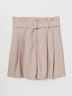 H&M Paper bag-shorts rosa