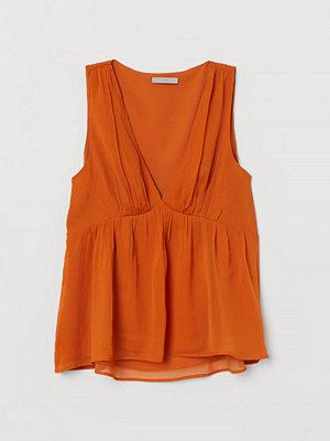 H&M Krinklad topp orange