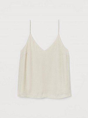 Linnen - H&M V-ringat linne beige