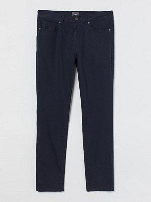H&M Twillbyxa Skinny Fit blå