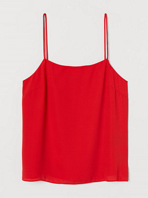 H&M Chiffongtopp röd