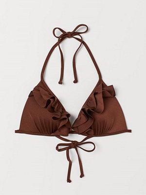 H&M Trekantsbikini-bh med push up beige