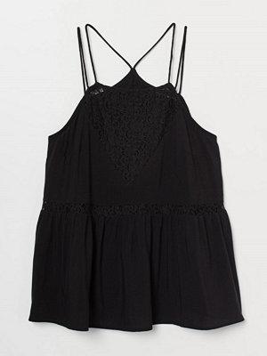 H&M Topp med spets svart