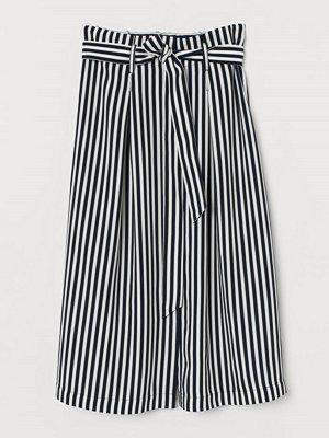 H&M Paper bag-kjol blå