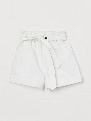 Shorts & kortbyxor - H&M Paper bag-shorts i denim vit