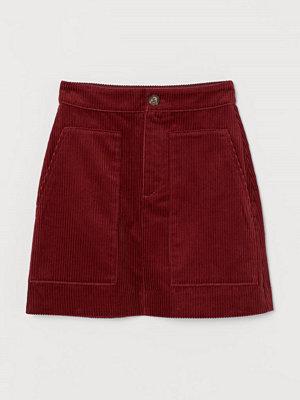 H&M Manchesterkjol röd