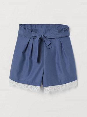 Shorts & kortbyxor - H&M Paper bag-shorts med knytskärp blå
