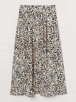 H&M Kjol med slitsar beige