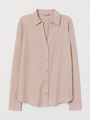 H&M V-ringad blus rosa