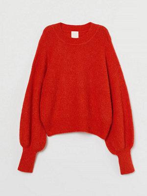 H&M Finstickad tröja i alpackamix orange