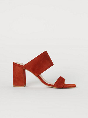 H&M Slip in-sandaletter i mocka orange