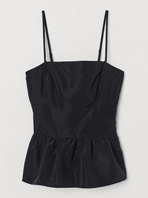 H&M Peplumtopp svart