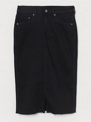 H&M Pennkjol i denim svart