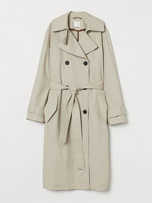 H&M Trenchcoat i bomull beige