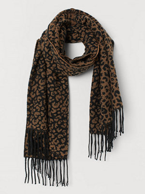Halsdukar & scarves - H&M Mönstrad halsduk beige
