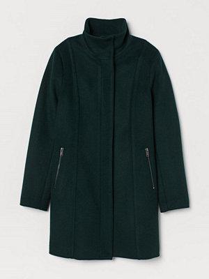 H&M Kort kappa i ullmix grön