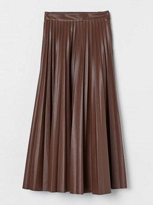 H&M Plisserad kjol beige
