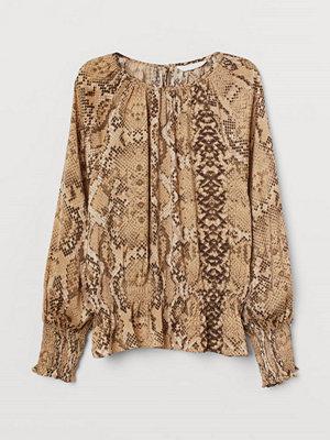 H&M Blus med smock beige