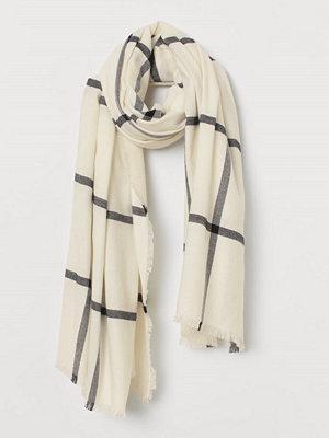 H&M Stor scarf vit