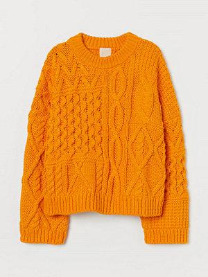 H&M Kabelstickad tröja orange