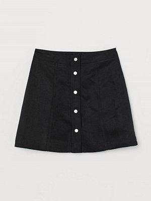 H&M A-linjeskuren kjol svart