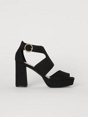 H&M Platåsandaletter svart