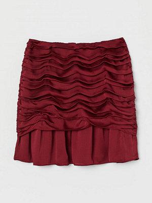 H&M Draperad kjol röd