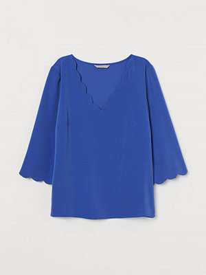 H&M Blus med uddkant blå