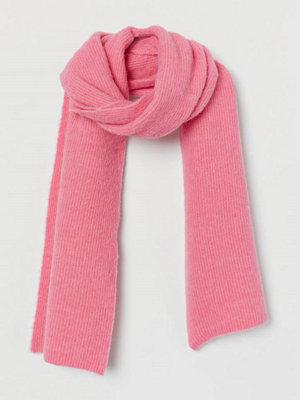H&M Stor halsduk i ullmix rosa