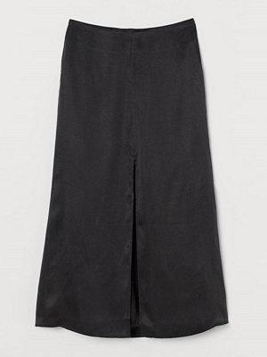 H&M Kjol i lyocellmix svart