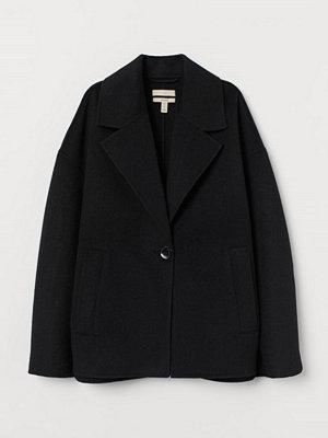 H&M Kort kappa i ullmix svart