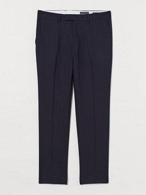 H&M Kostymbyxa i ull Slim Fit blå