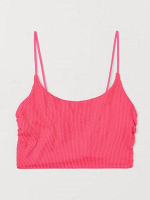 H&M Lång bikinitopp rosa