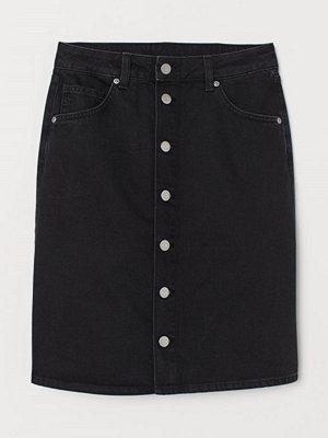 H&M Denimkjol svart