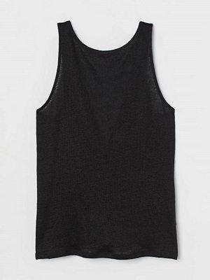 H&M Tanktop i lin svart