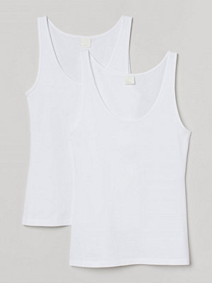 H&M 2-pack linne vit