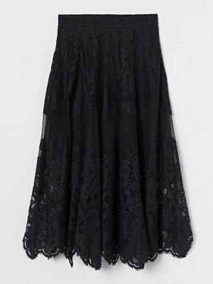 H&M Spetskjol i bomullsmix svart